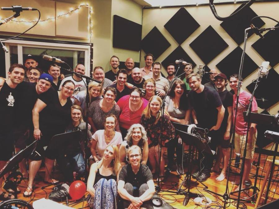 The Crossing recording at Morningstar Studios from the Crossing Choir facebook page