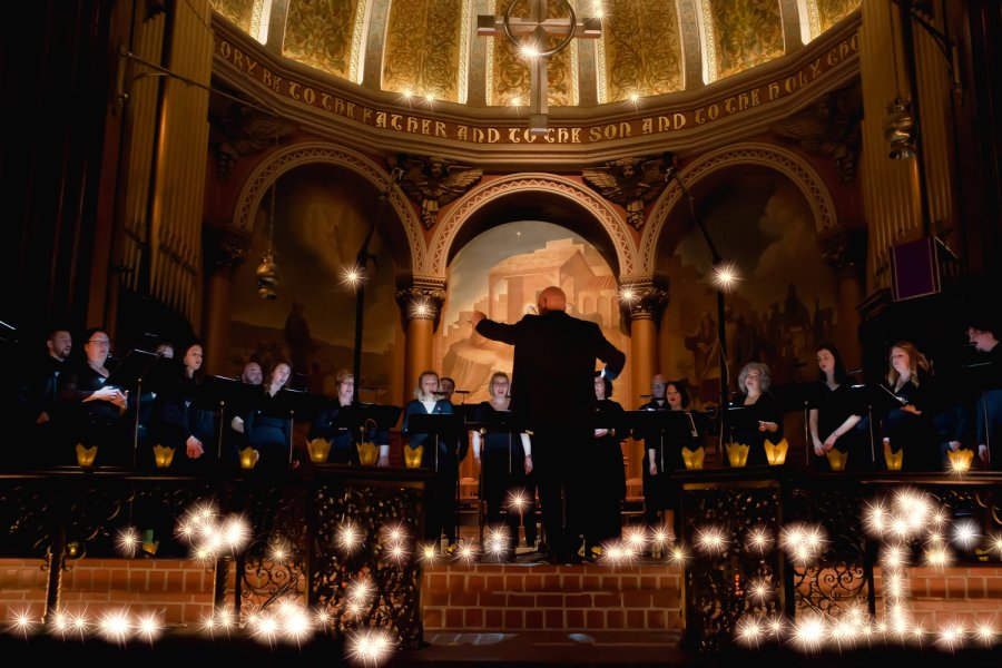 The Crossing Choir at Christmas in the Church of the Holy Trinity. Becky Oehlers Photograph.jpg
