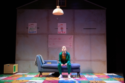Ruby Wolf as Marnie in Inis Nua Theatre's Box Clever by Monsay Whitney.