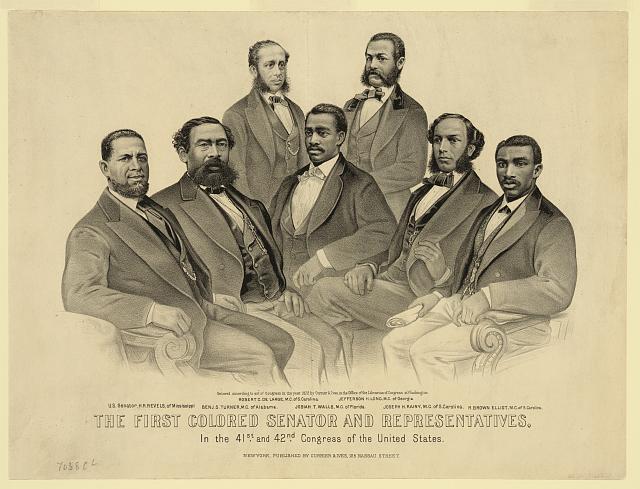 The First Colored Senator and Representatives